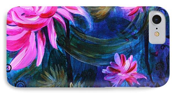 Beneath Dark Lotus Waters IPhone Case