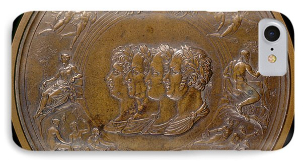 Benedetto Pistrucci, The Waterloo Medallion The Prince IPhone Case by Quint Lox
