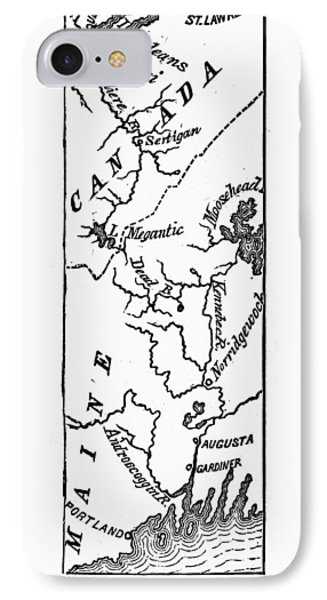 Benedict Arnold: Map, 1775 Phone Case by Granger