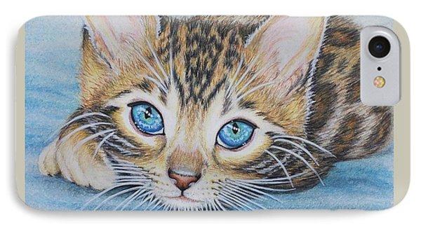 Bengal Kitten IPhone Case by Jane Girardot