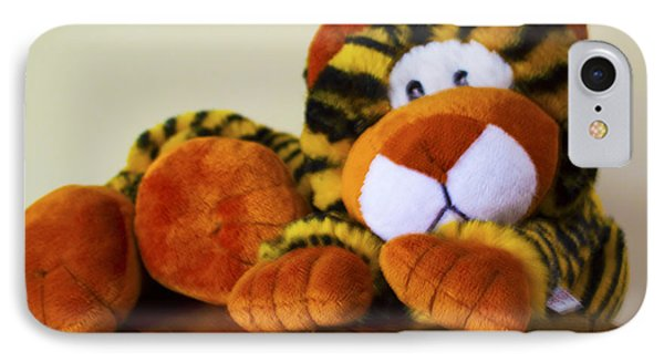 Bengal Tiger Abstract  Phone Case by Barbara Snyder