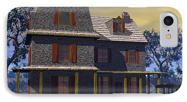 IPhone Case featuring the digital art Benjamin Cooper House - 1734 by John Pangia
