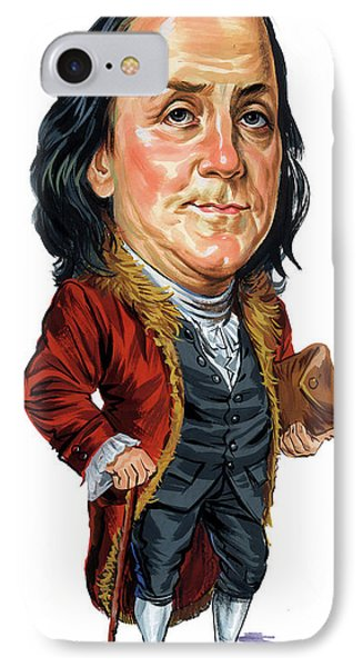 Benjamin Franklin IPhone Case by Art