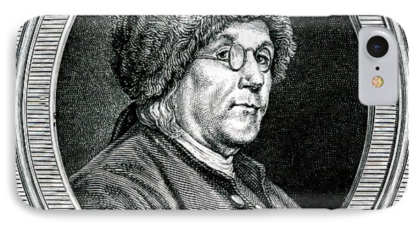 Benjamin Franklin IPhone Case by Collection Abecasis