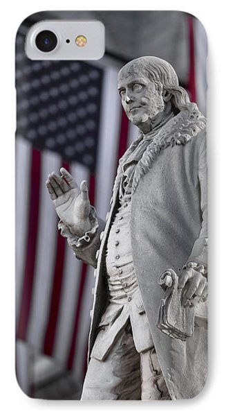 Benjamin Franklin IPhone Case by Eduard Moldoveanu