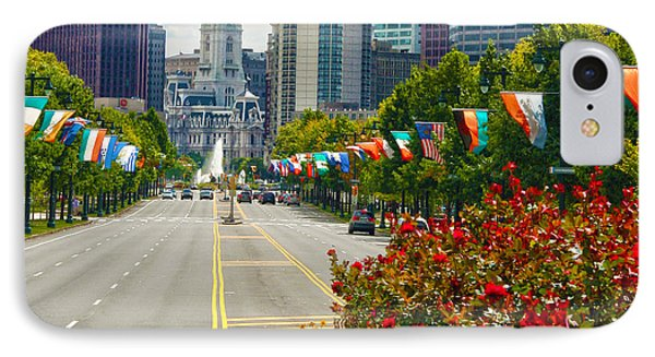 Benjamin Franklin Parkway  IPhone Case by Mitch Cat