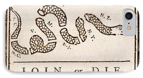Benjamin Franklin's Join Or Die Cartoon IPhone Case