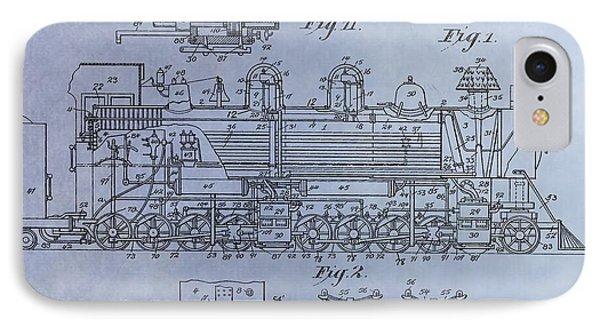 Bennett Locomotive Patent IPhone Case by Dan Sproul