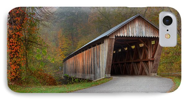 Bennett Mill Covered Bridge Phone Case by Jack R Perry