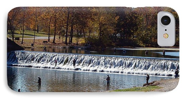 IPhone Case featuring the photograph Bennett Springs Spillway by Sara  Raber