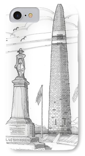 Bennington Battle Monuments IPhone Case by Richard Wambach