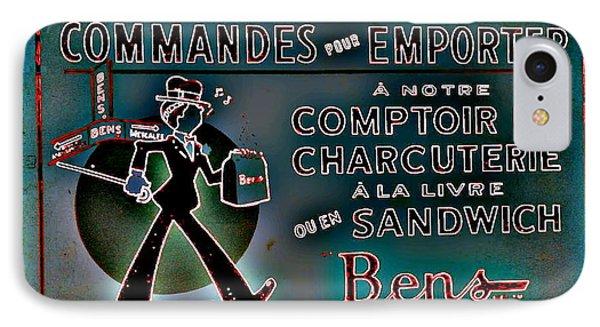 Ben's Deli Restaurant Fameux Comptoir Charcuterie Smoked Meat Take-0ut Montreal Memorabilia Phone Case by Carole Spandau