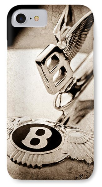 Bentley Hood Ornament - Emblem IPhone Case by Jill Reger