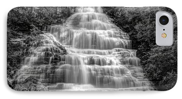 Benton Falls In Black And White Phone Case by Debra and Dave Vanderlaan
