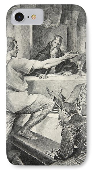 Beowulf Replies Haughtily To Hunferth IPhone Case by John Henry Frederick Bacon