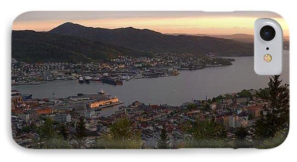 Bergen Sunset Panorama Phone Case by Benjamin Reed