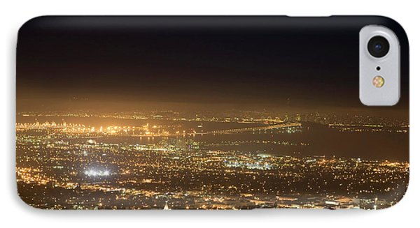 Berkeley At Night IPhone Case by Peter Menzel
