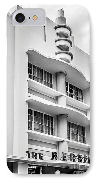 Berkeley Shores Hotel - South Beach - Miami - Florida - Black And White IPhone Case