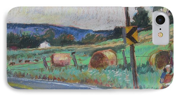 IPhone Case featuring the painting Berkshire Mountain Painter by Linda Novick