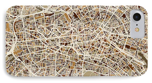 Berlin iPhone 7 Case - Berlin Germany Street Map by Michael Tompsett
