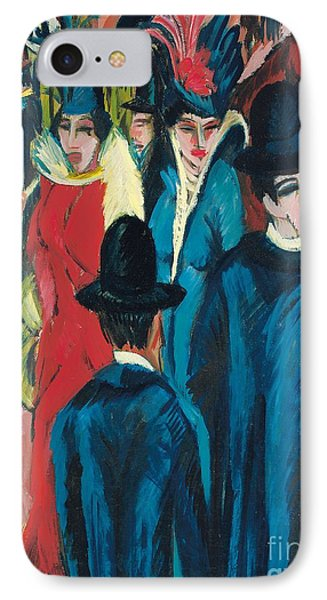 Berlin Street Scene IPhone Case by Ernst Ludwig Kirchner