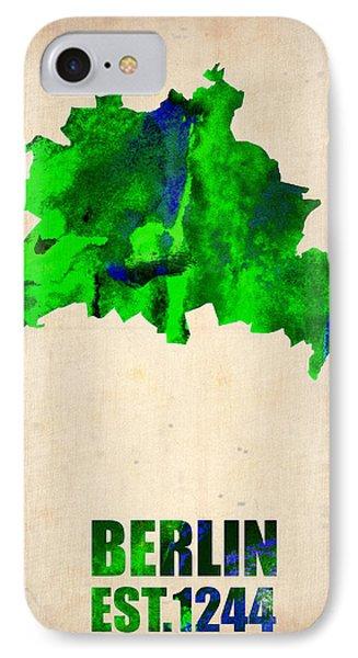 Berlin iPhone 7 Case - Berlin Watercolor Map by Naxart Studio