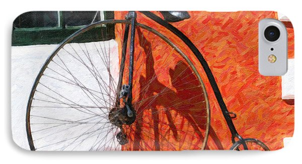 IPhone Case featuring the photograph Bermuda Antique Bicycle by Verena Matthew