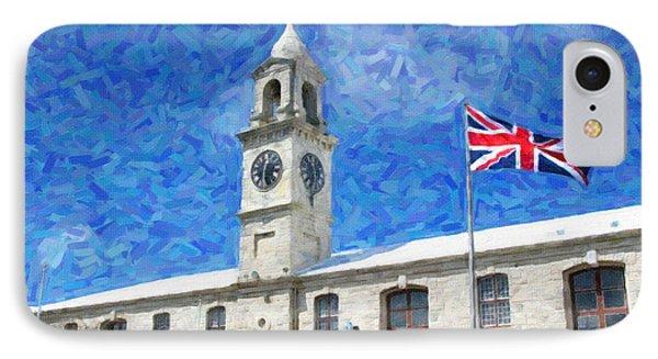 IPhone Case featuring the photograph Bermuda Clocktower by Verena Matthew