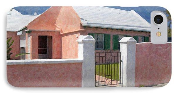 IPhone Case featuring the photograph Bermuda Garden Gate by Verena Matthew