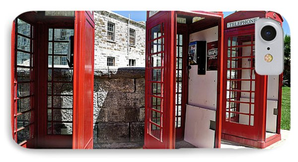 Bermuda Phone Boxes 2 IPhone Case by Richard Reeve