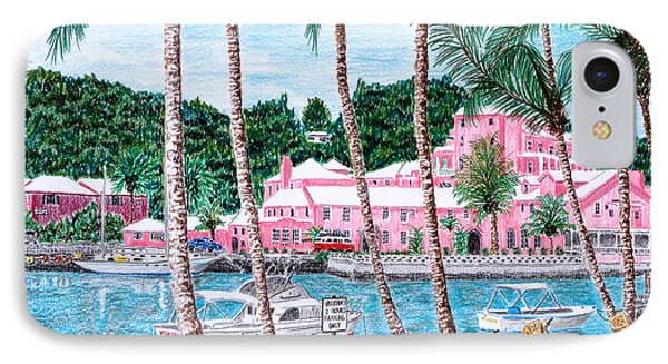 Bermuda Pink Hotel IPhone Case