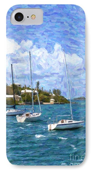 IPhone Case featuring the photograph Bermuda Sailboats by Verena Matthew