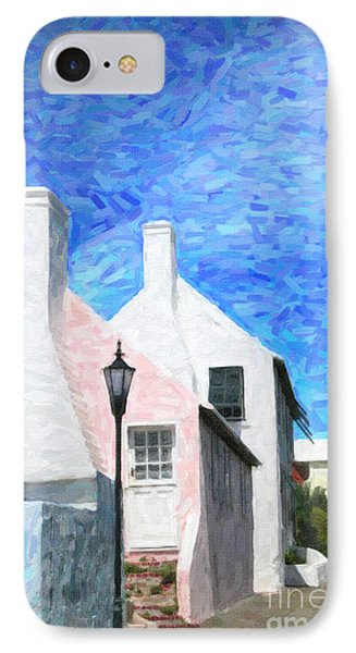 IPhone Case featuring the photograph Bermuda Side Street by Verena Matthew