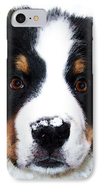 Bernese Mountain Dog - Baby It's Cold Outside IPhone Case by Sharon Cummings
