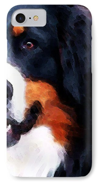 Bernese Mountain Dog - Half Face Phone Case by Sharon Cummings