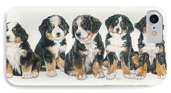 Bernese Mountain Dog Puppies Phone Case by Barbara Keith