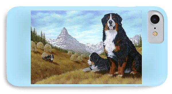 Bernese Mountain Dog IPhone Case by Rick Bainbridge