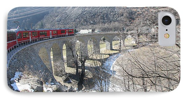 Bernina Express In Winter IPhone Case by Travel Pics