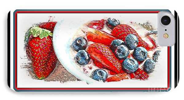 Berries And Yogurt Illustration - Food - Kitchen Phone Case by Barbara Griffin