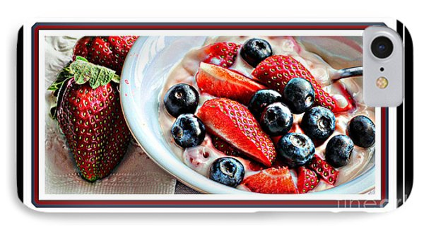Berries And Yogurt Intense - Food - Kitchen Phone Case by Barbara Griffin