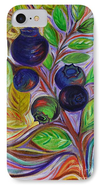Berry Bush IPhone Case by Cynthia Lagoudakis