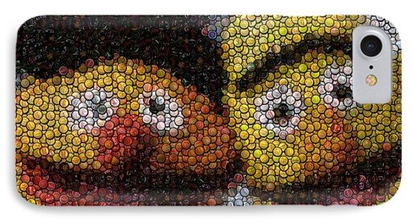 Bert And Ernie Bottle Cap Mosaic IPhone Case