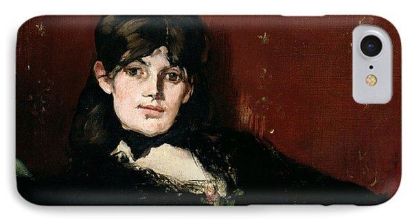 Berthe Morisot 1841-95 Reclining, 1873 Oil On Canvas IPhone Case by Edouard Manet