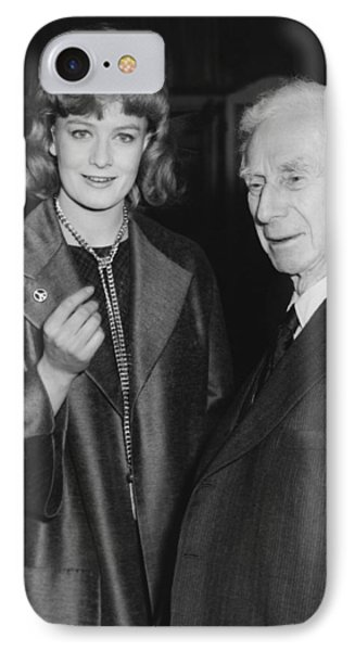 Bertrand Russell And Redgrave IPhone Case by Underwood Archives