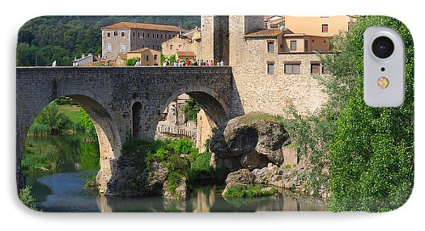 Besalu A Medieval Town In Catalonia Spain Phone Case by Louise Heusinkveld