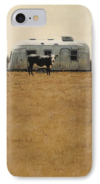 IPhone Case featuring the painting Bessie Wants To Travel by Ron Crabb