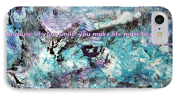 Besso Monotype Smile IPhone Case by Marlene Rose Besso