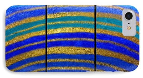 Best Art Choice Award Original Abstract Oil Painting Modern Blue Contemporary House Deco Gallery Phone Case by Emma Lambert