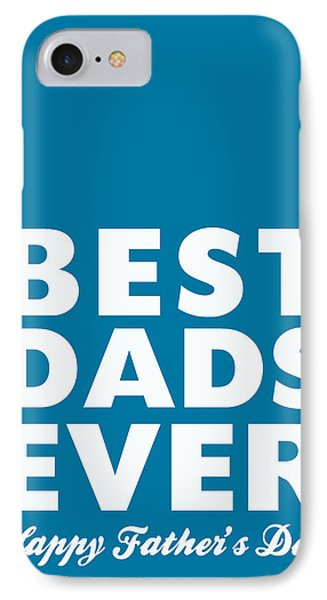 Best Dads Ever- Father's Day Card IPhone Case by Linda Woods