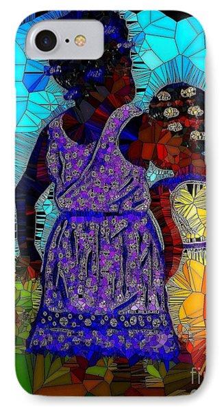 Best Friends Mosaic IPhone Case by Saundra Myles